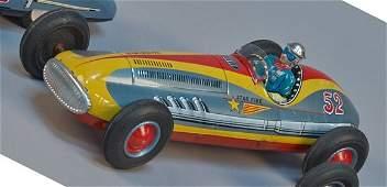 Star Fire No. 52 Litho. Tin Toy Race Car