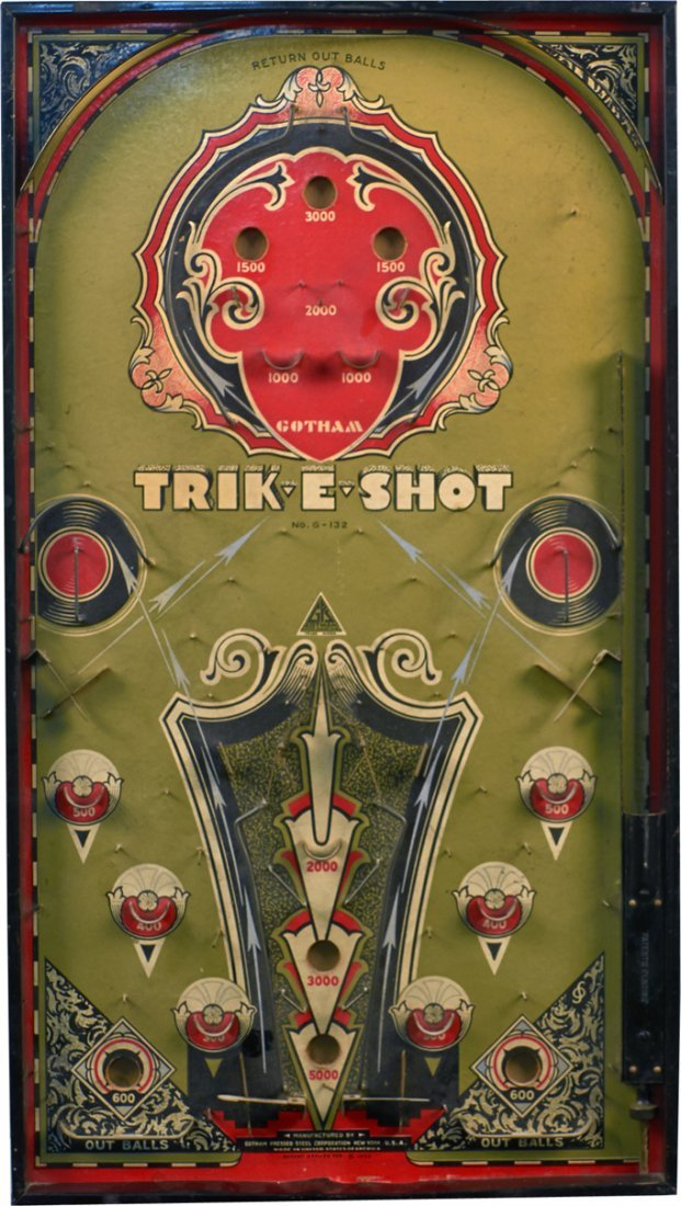 Vintage Trik-E-Shot Tabletop Pinball Style Game