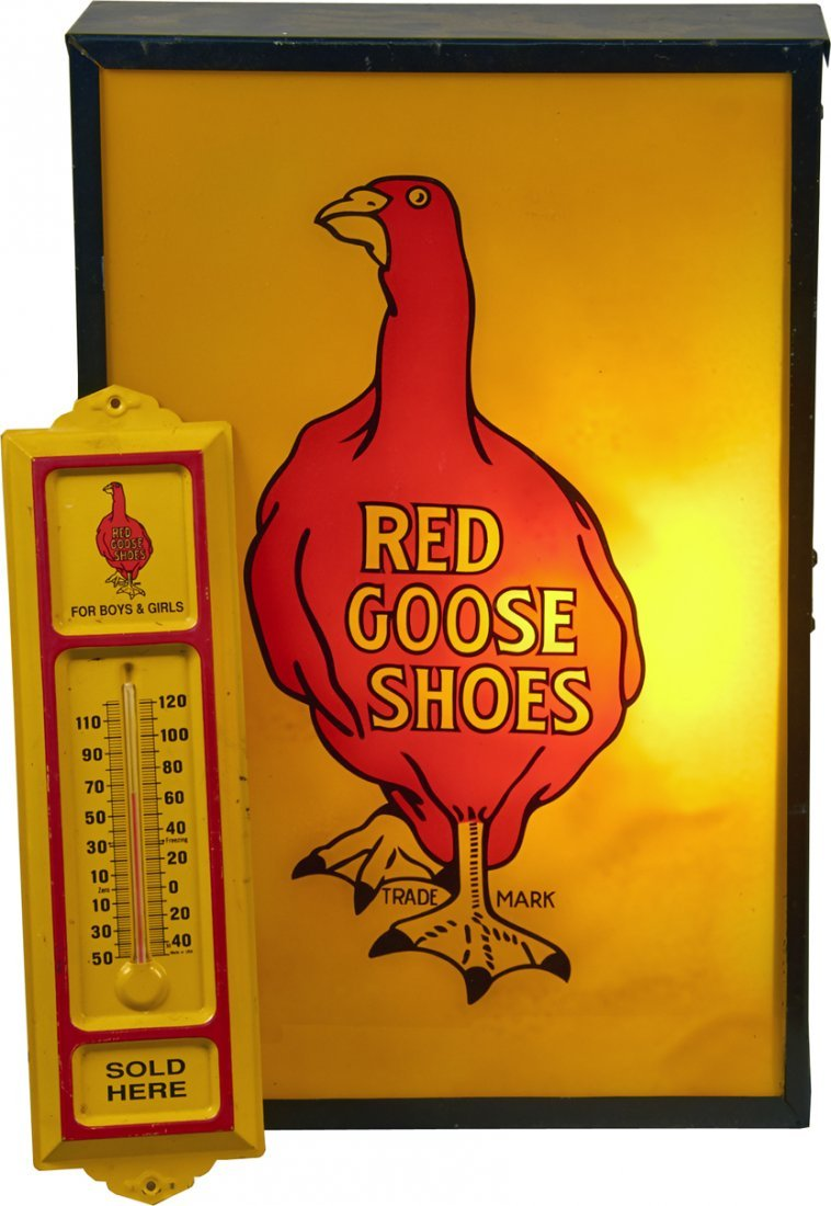 Lot of 2 - Red Goose Shoes Advertisement Items:
