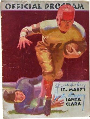 Signed Jack Dempsey & Hannah Dempsey 1933 Football