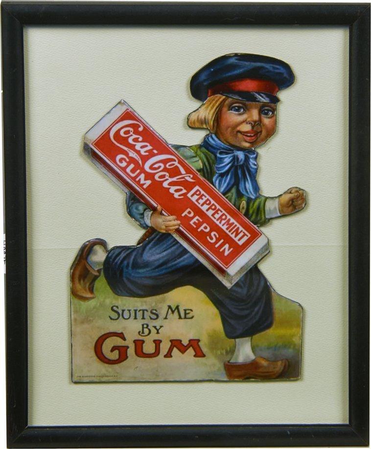 Coca Cola Pepsin Gum Dutch Boy Die-Cut Advertisement