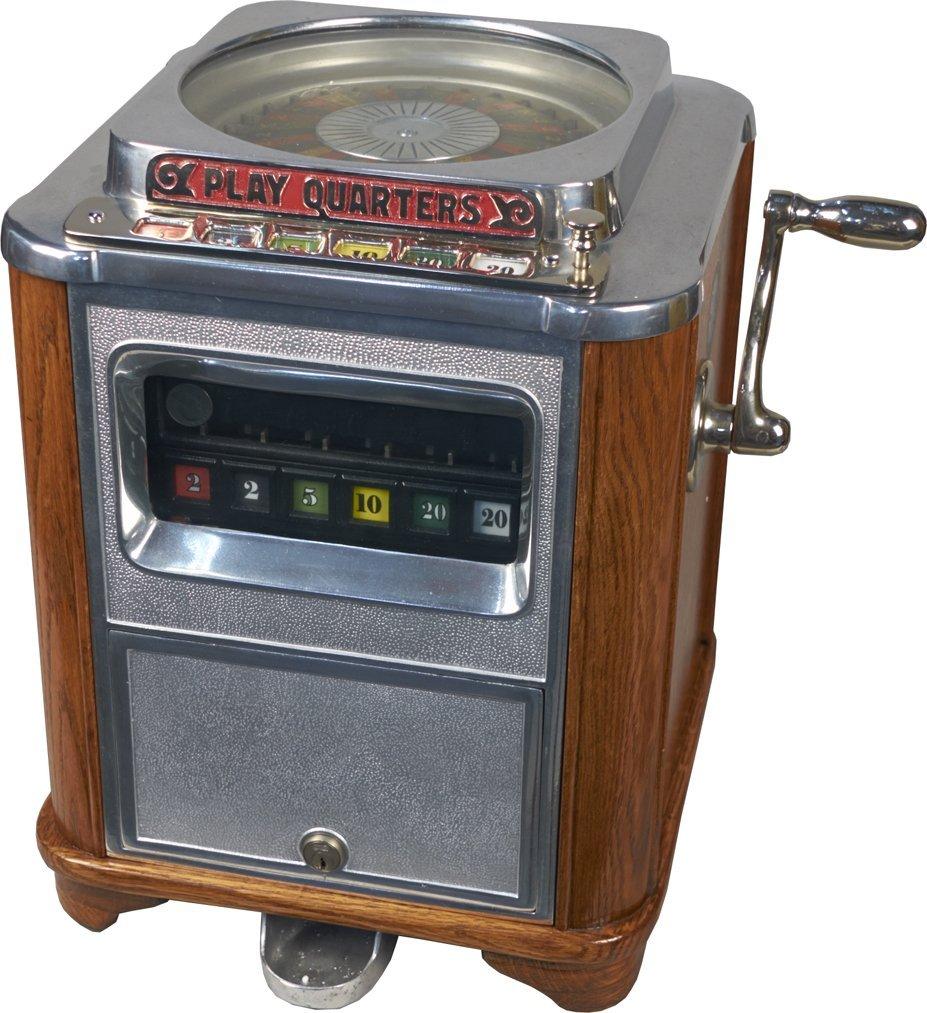 25 Cent Caille Bros. Roulette Countertop Slot Machine