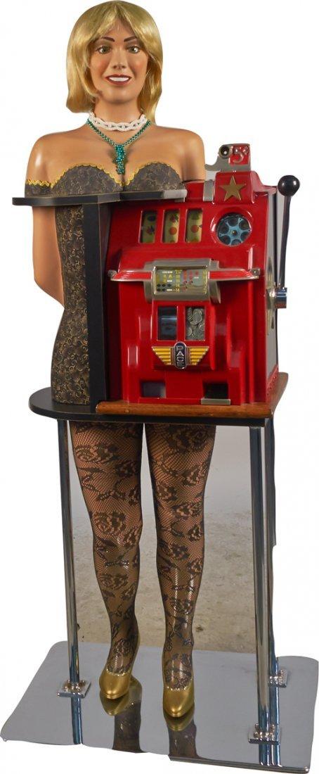 Cocktail Waitress 5 Cent Pace Slot Machine & Stand