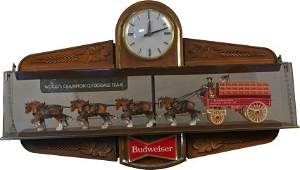 Budweiser Beer World's Champion Clydesdale Clock Sign