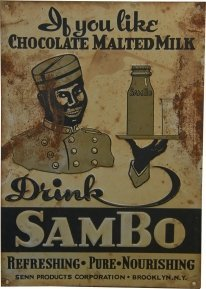 Drink Sambo Embossed Tin Advertisement Sign