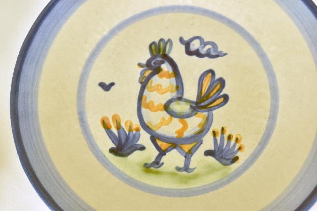 Collection Of M A Hadley Chicken Painted Pottery - 2