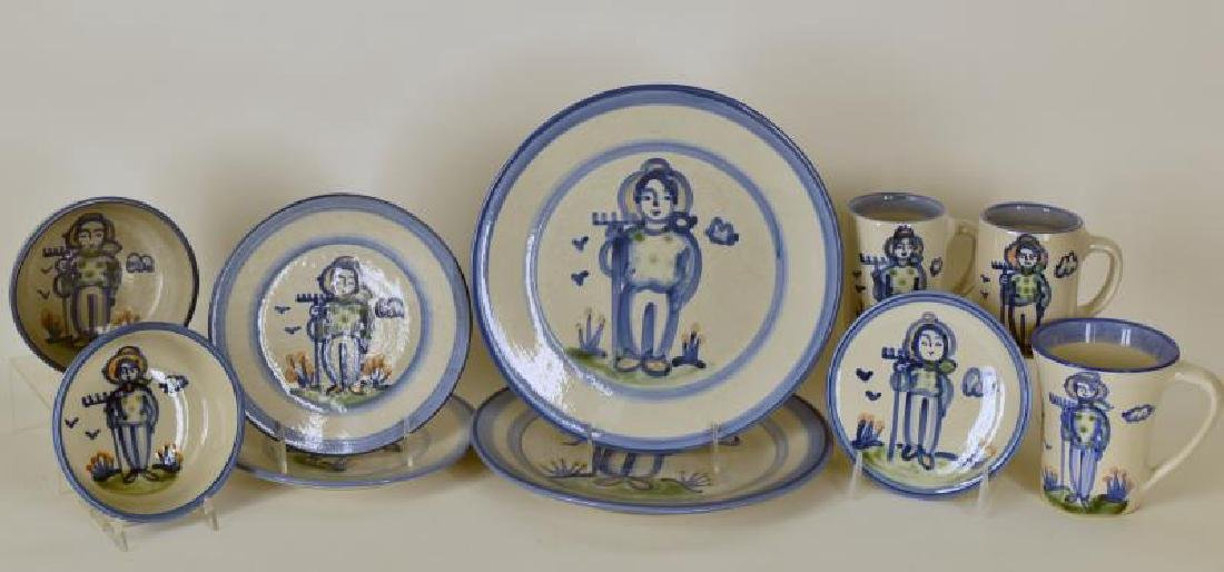 Collection Of M A Hadley Farmer Painted Pottery
