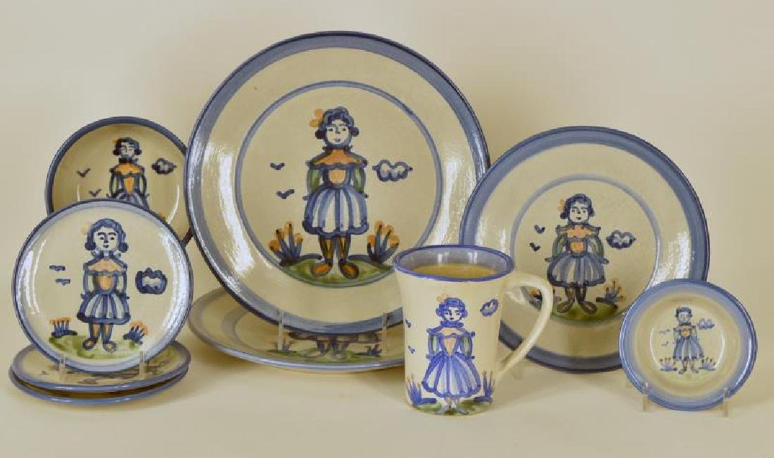 Collection Of M A Hadley Farmers Wife Pottery