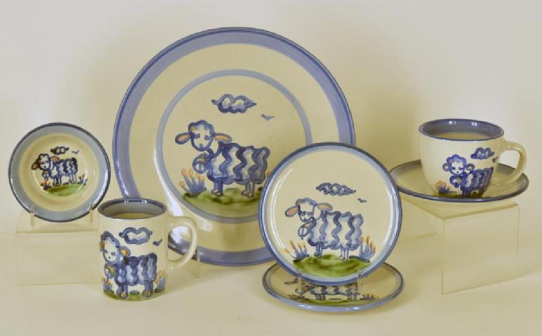 Collection Of M A Hadley Lamb Painted Pottery