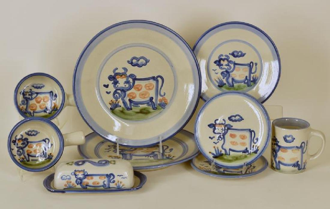 Collection Of M A Hadley Cow Painted Pottery
