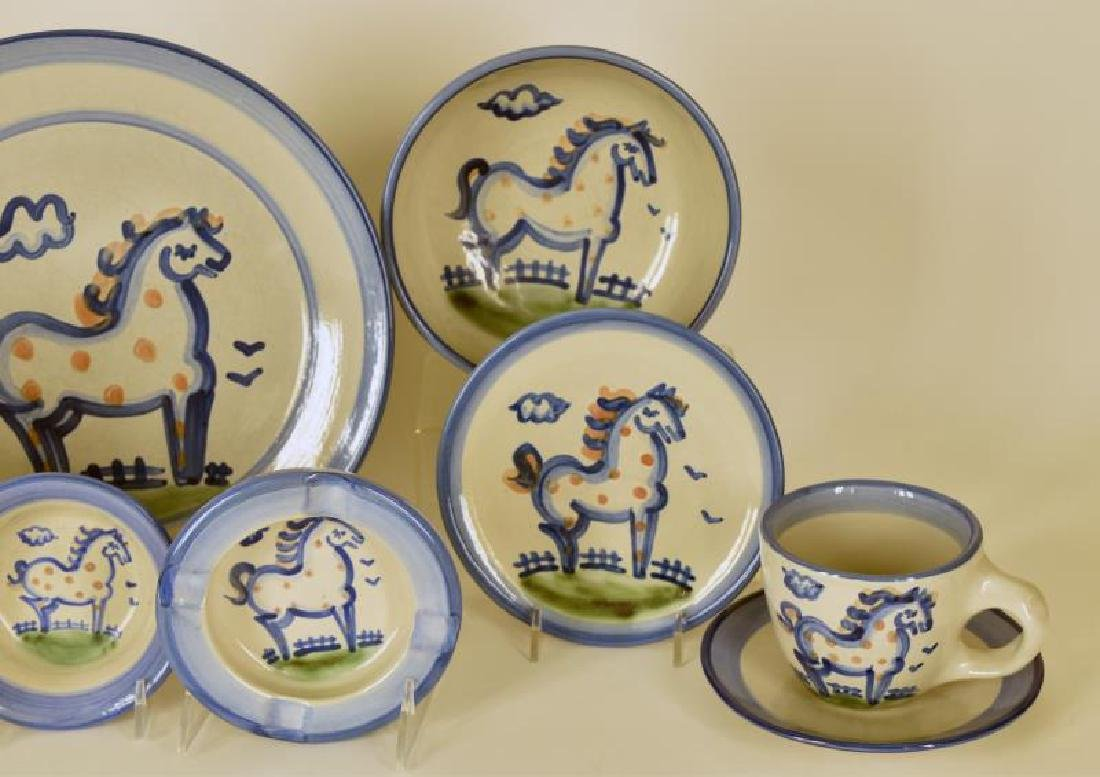 Collection Of M A Hadley Horse Painted Pottery - 2