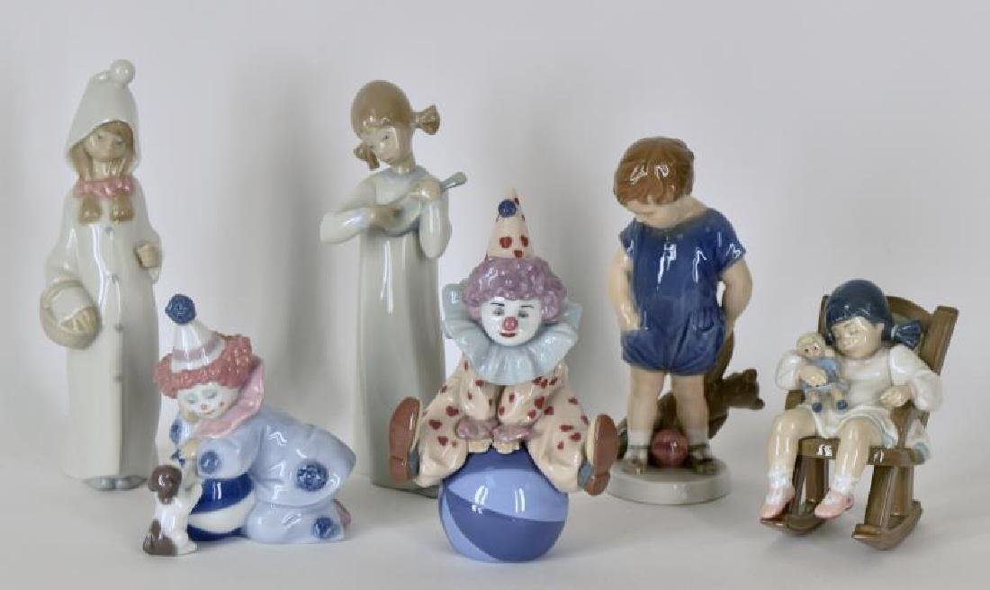 Collection Of Lladro Pottery