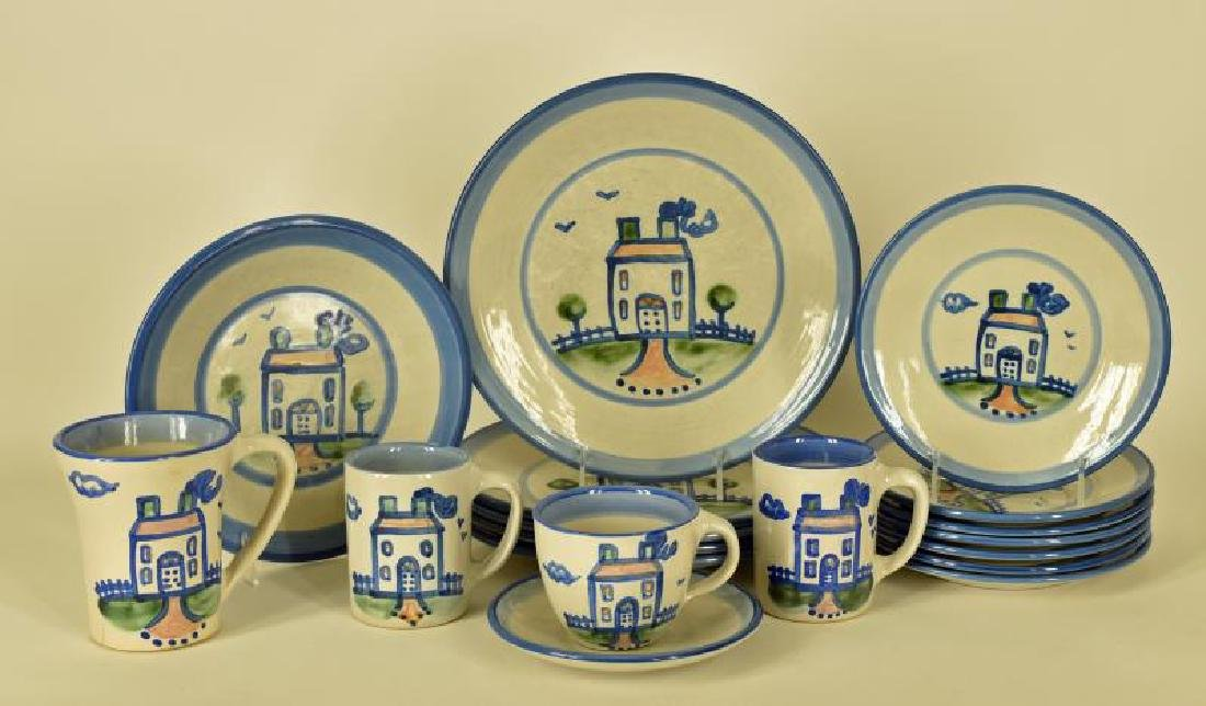Collection Of M A Hadley House Painted Pottery