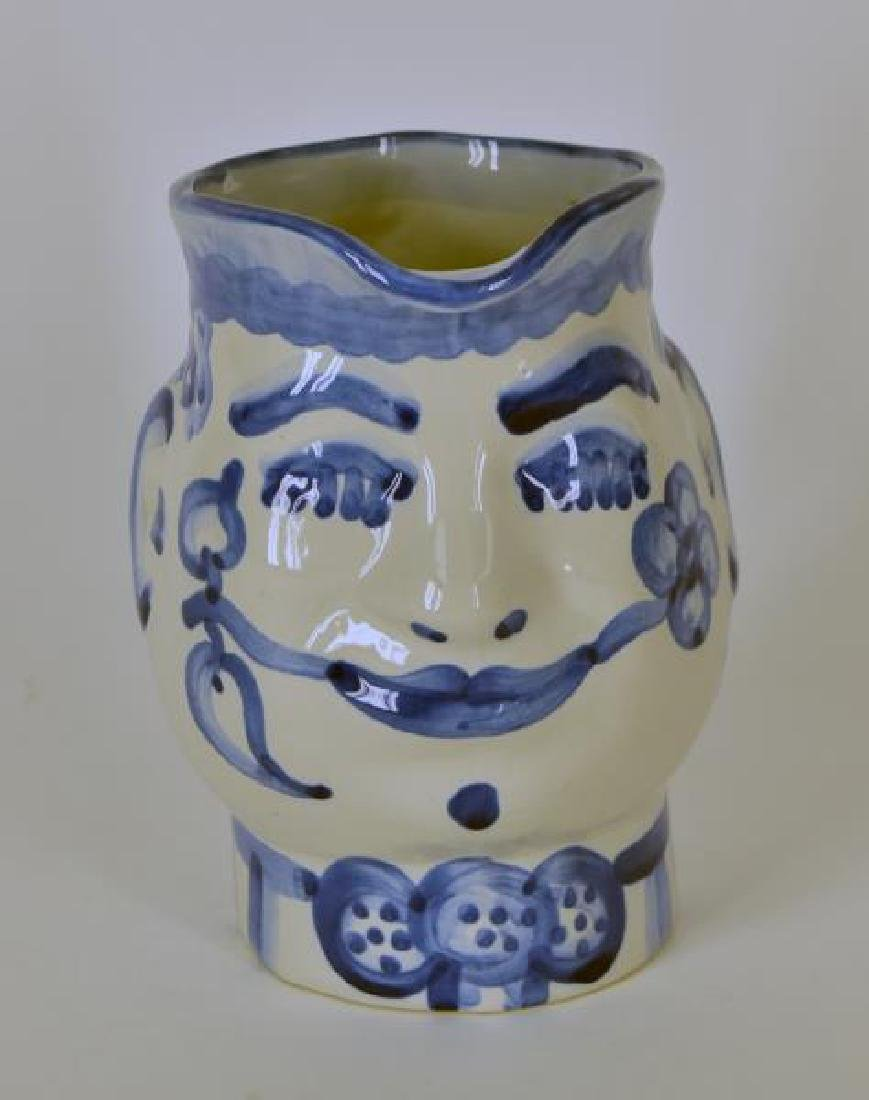 M A Hadley Pottery Painted Man Pitcher