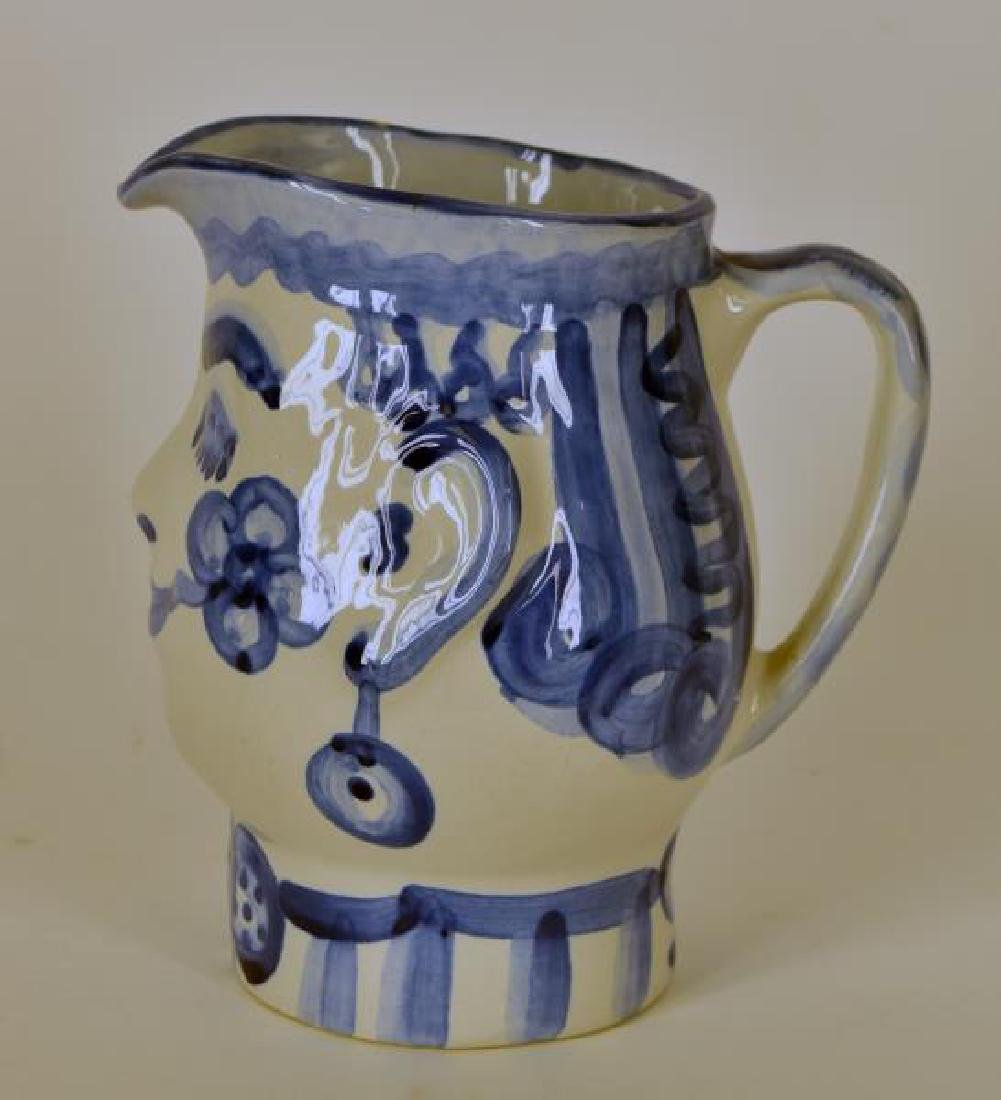 M A Hadley Pottery Painted Man Pitcher - 2