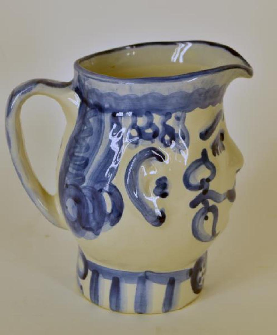 M A Hadley Pottery Painted Man Pitcher - 3