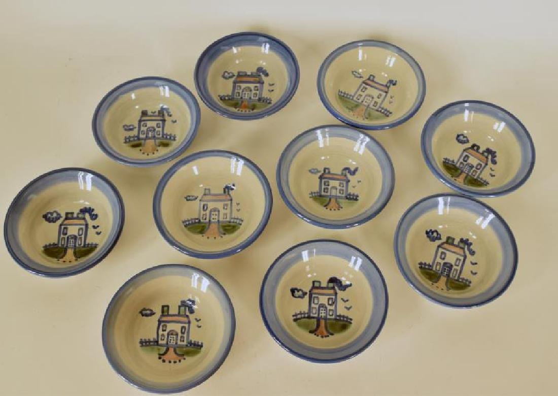 Collection Of M A Hadley House Painted Berry Bowls