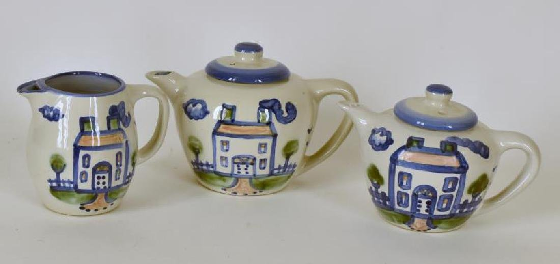 Collection Of M A Hadley Pottery Painted Tea Pots