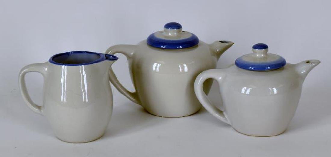 Collection Of M A Hadley Pottery Painted Tea Pots - 2