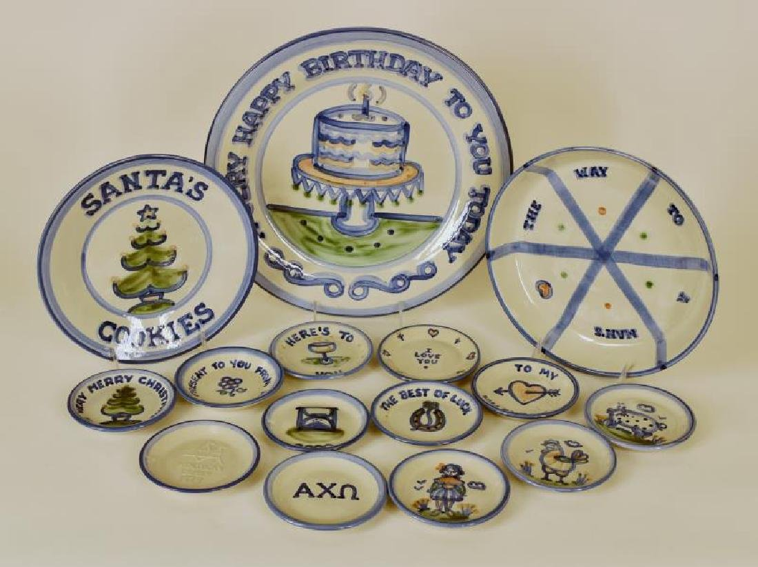 Collection Of M A Hadley Pained Holiday Dishes
