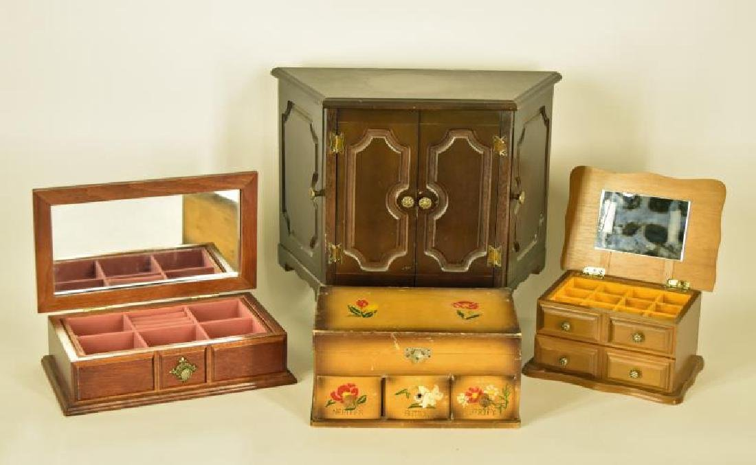 Collection Of 4 Vintage  Jewelry Boxes