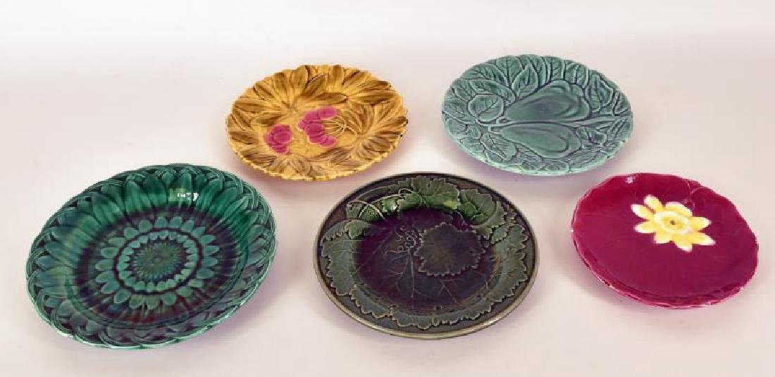 Collection Of Majolica Plates