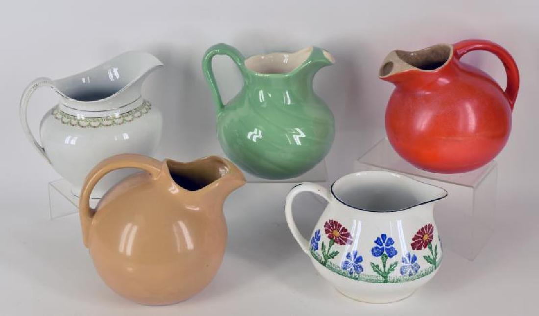 Collection Of Stoneware Pitchers