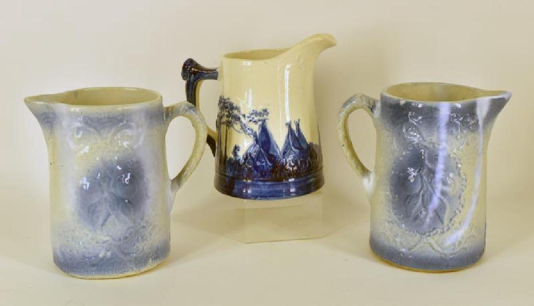 Collection Of Stoneware Pitchers - 2