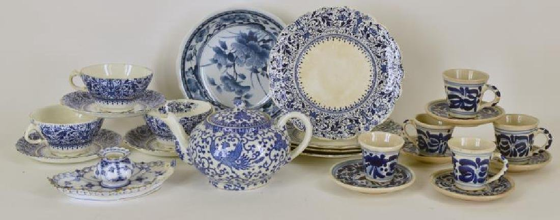 Collection Of Blue And White Dishes
