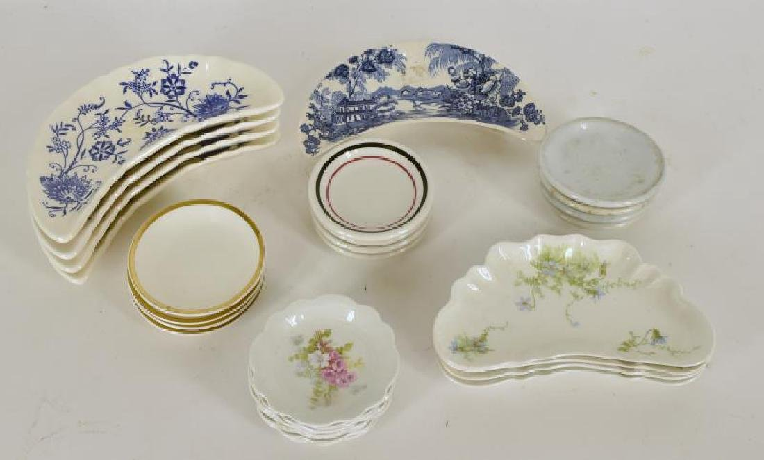 Collection Of Bones Dishes And Butter Pats