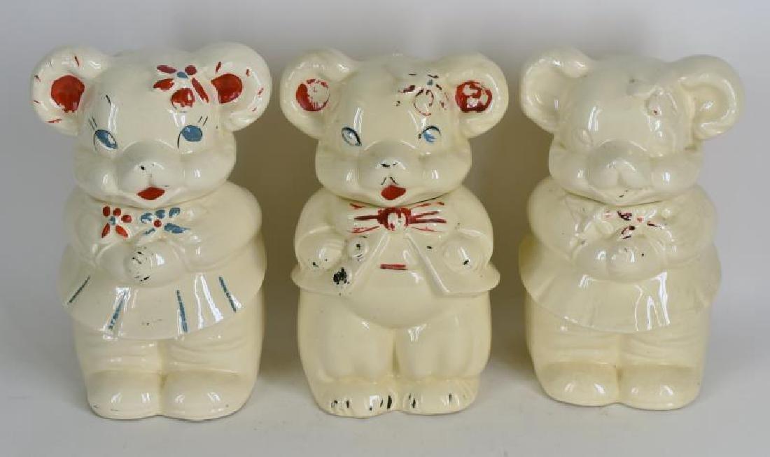 Vintage Two Faced Cookie Jars