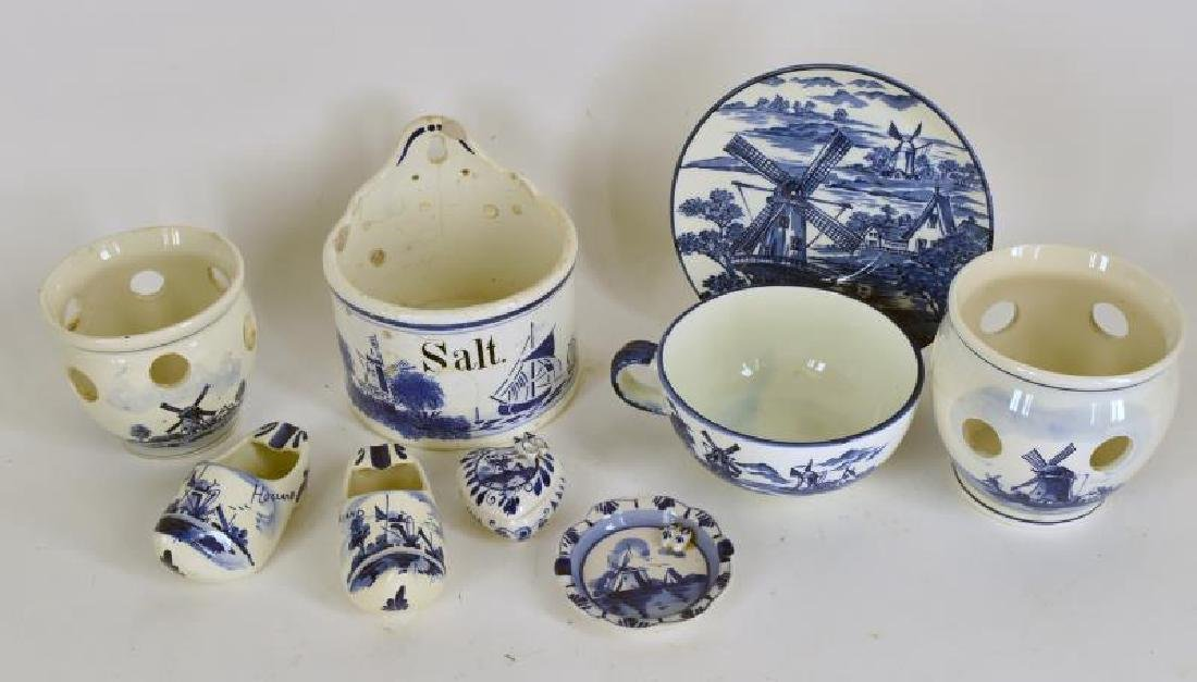 Collection Of Delft Blue And White Pottery