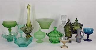 Collection Of Green Glassware