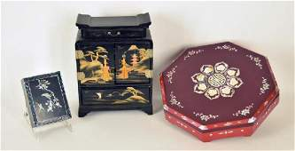 Collection Of Asian Vintage Jewelry Boxes
