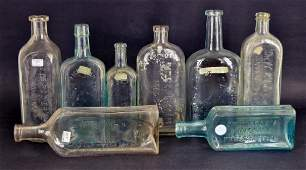 Collection Of Embossed Medicine Bottles