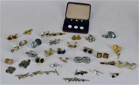 Large Collection Of Men's Cufflinks And Buttons