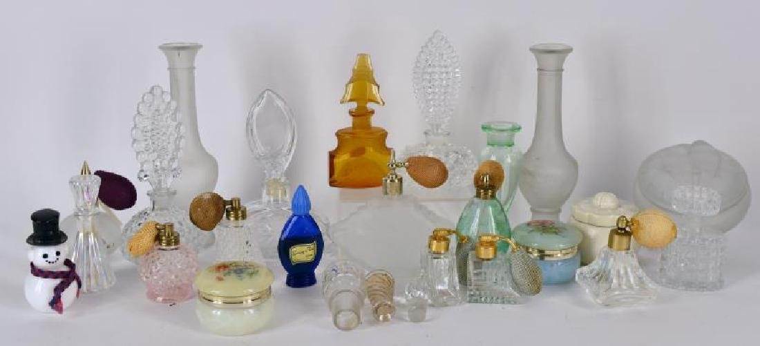 Large Collection Of Perfume Bottles & Powder Boxes
