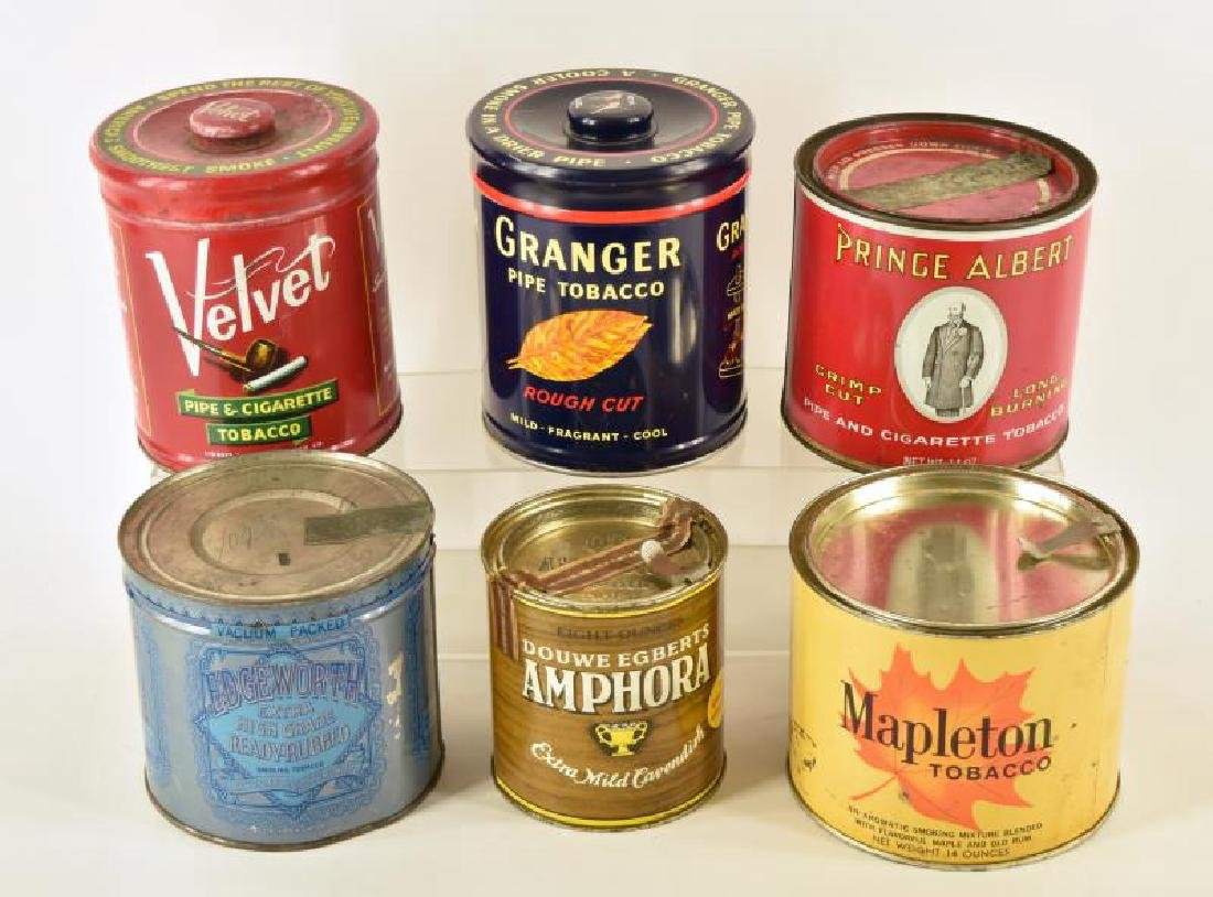 Collection Of Six Tobacco Tins