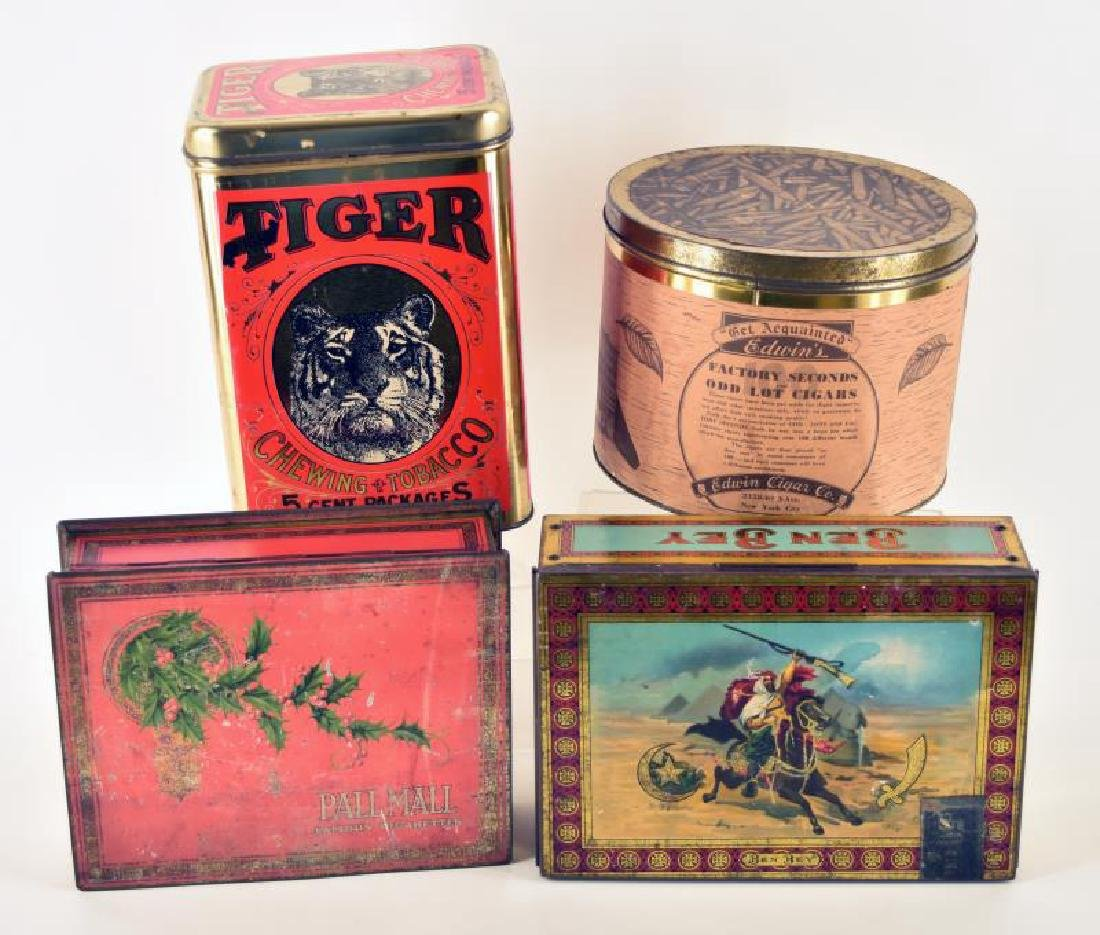 Collection Of Four Tobacco Tins
