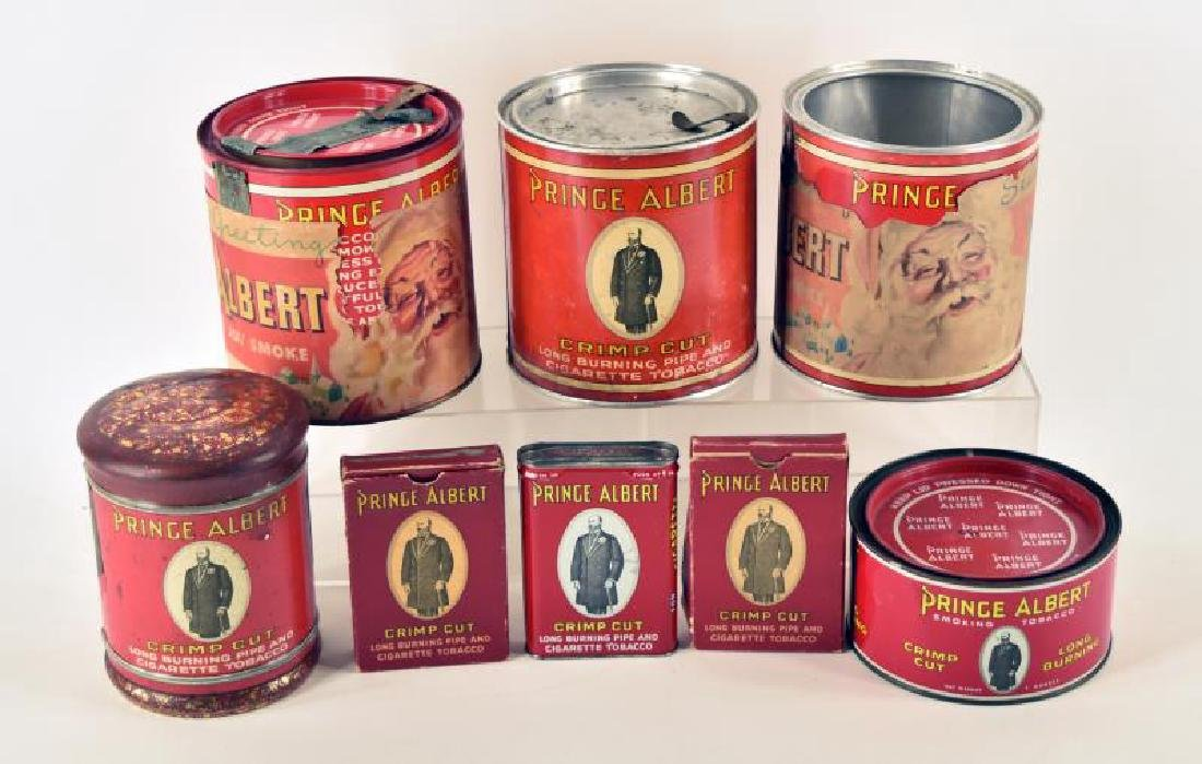 Collection Of Prince Albert  Tobacco Tins