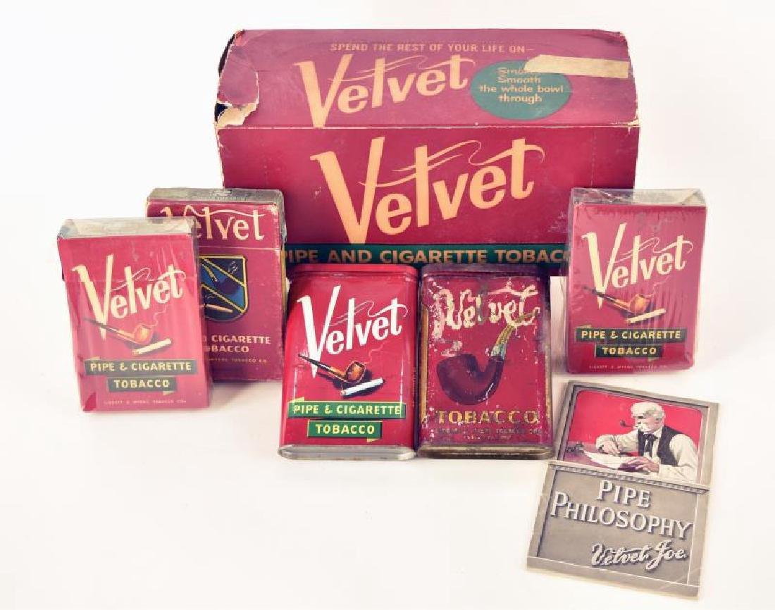 Group Of Velvet Tobacco Pocket Tins