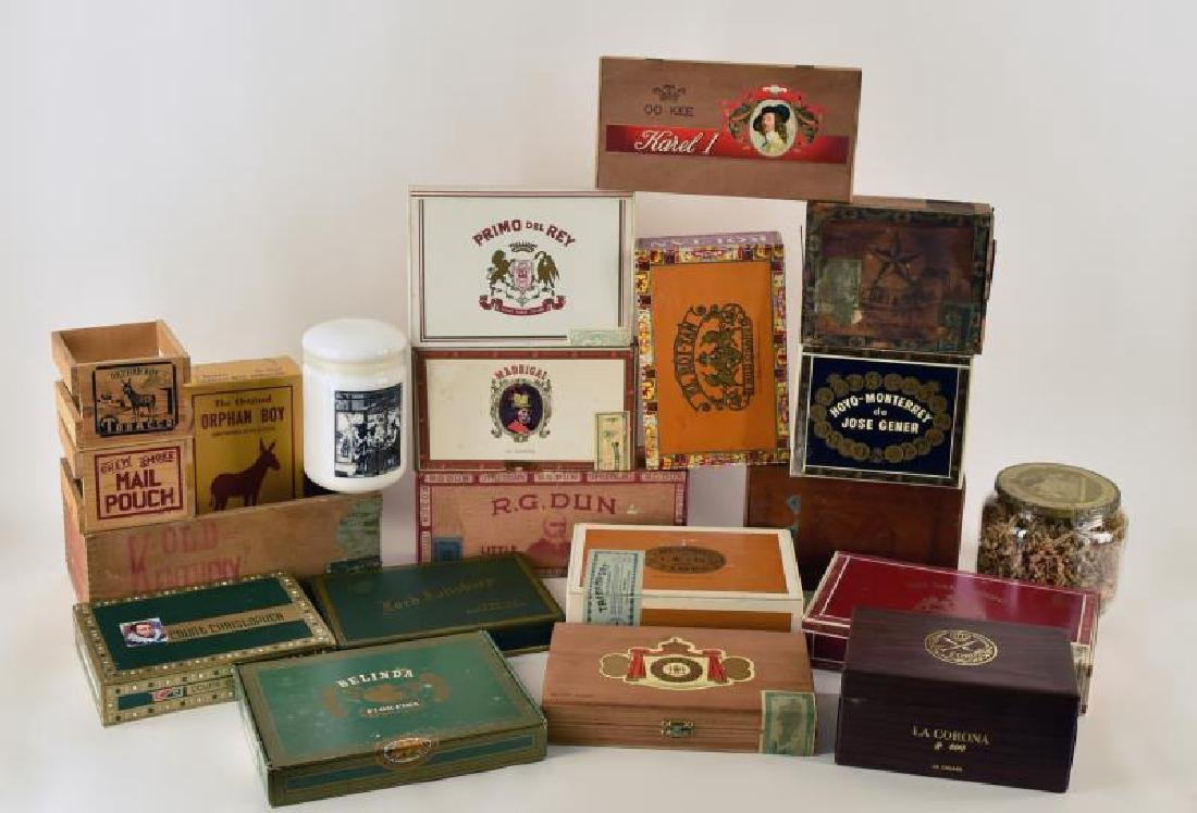 Collection Of Wood Cigar Boxes