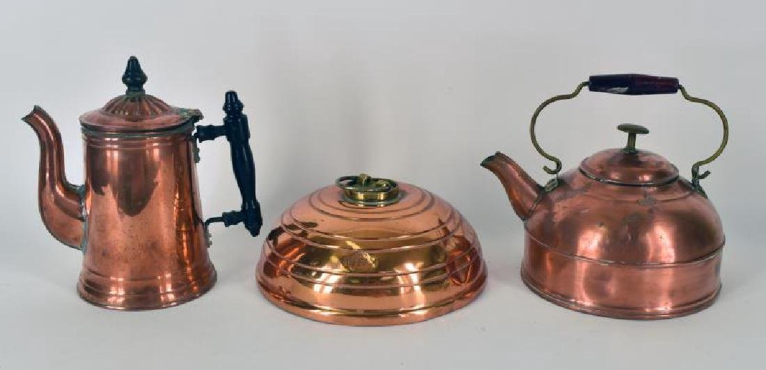 Collection Of Three Pieces Of Copper Metal Ware