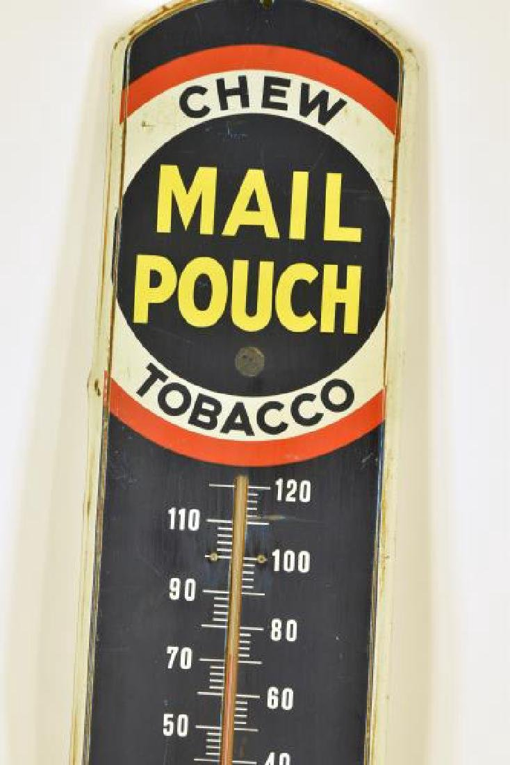 Vintage Mail Pouch Tobacco Advertising Thermometer - 2