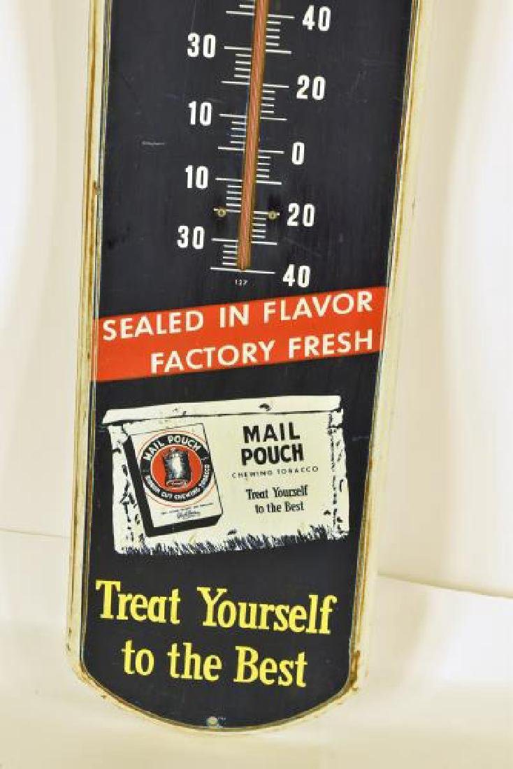 Vintage Mail Pouch Tobacco Advertising Thermometer - 3