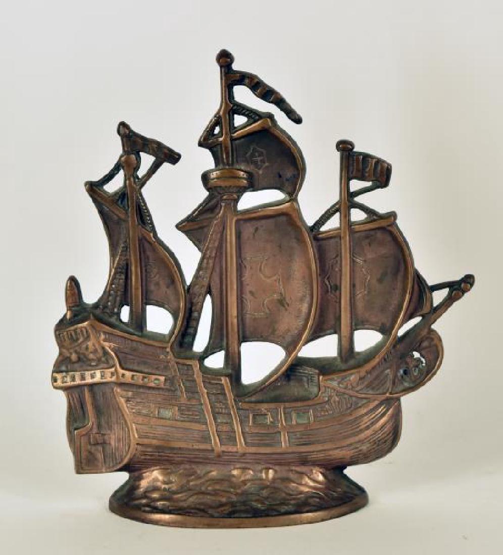 Bronze Ship Door Stop