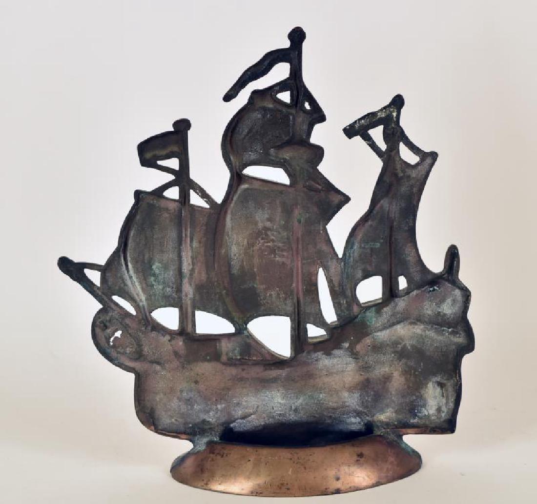 Bronze Ship Door Stop - 2