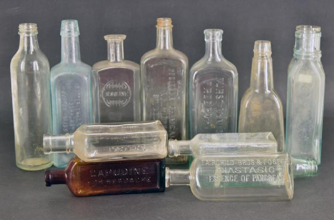 Collection Of Embossed Medical Bottles