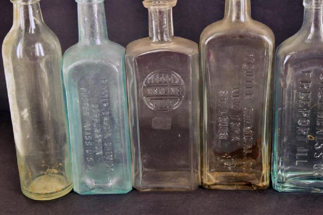 Collection Of Embossed Medical Bottles - 3