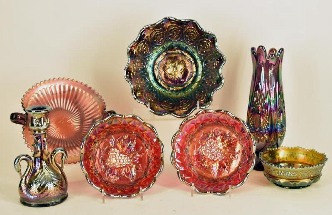 Collection Of Fenton Carnival Glass